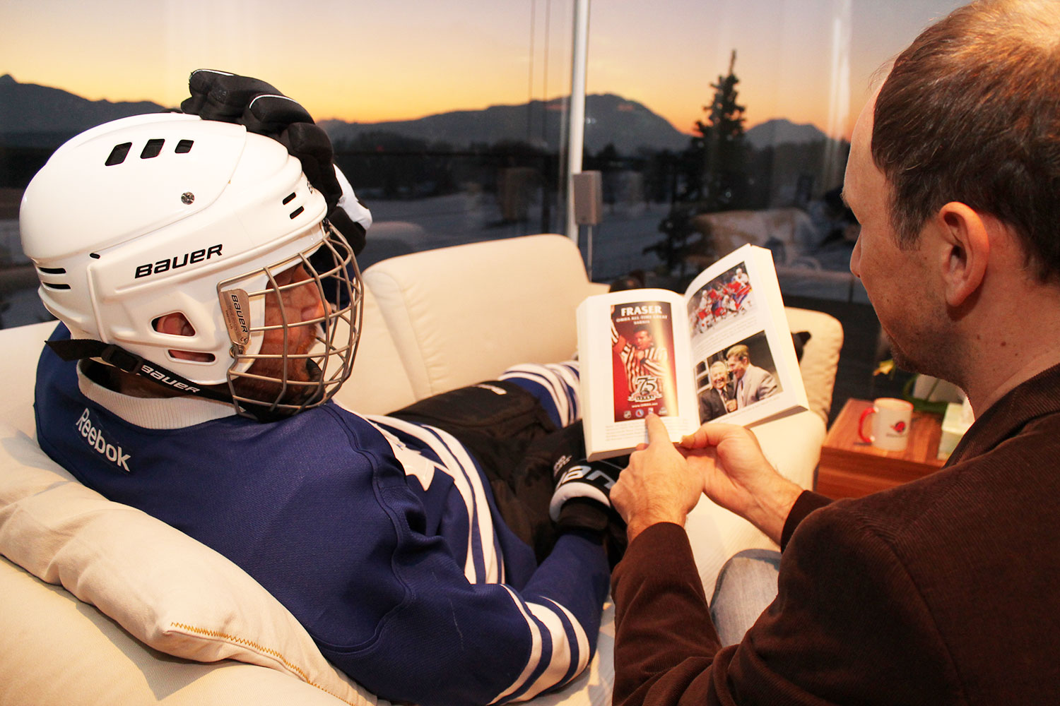 Call the doctor. Hockey-types ready for psychologist